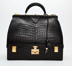 1d02e9bb79b5 Hermès Black Crocodile Mallette Handbag with Jewel Compartment Black Jeans  Outfit, Hermes Handbags, Fashion