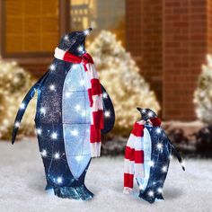 9 Tall FREE Shipping to the lower 48 on orders over $35! Handmade Glass Gliding Penguin