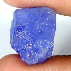 13.95Cts. 100% NATURAL LAVENDER BLUE TANZANITE EXCLUSIVE SPECIMEN FACET ROUGH #Handmade