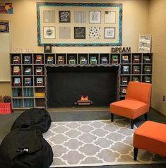 ideas for diy decorao classroom reading areas Classroom Reading Area, Classroom Layout, 4th Grade Classroom, High School Classroom, Classroom Design, Future Classroom, Classroom Themes, Classroom Organization, Reading Areas