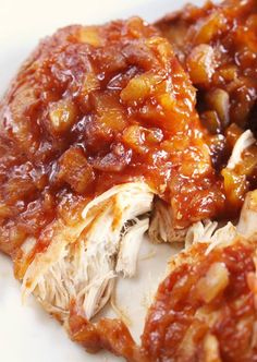 Ingredients: 1 Can Crushed Pineapples 1 Cup BBQ Sauce (Doesn't have to be Hawaiian-Style, Honey BBQ Sauce would also be fine) 2-4 Boneless Chicken Breasts (Or however many you need for your family). Directions: 1. Mix together BBQ Sauce and