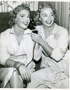 Sisters Jane and Audrey Meadows