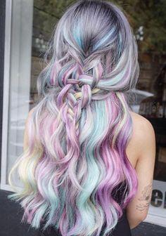 beautiful pastel hair