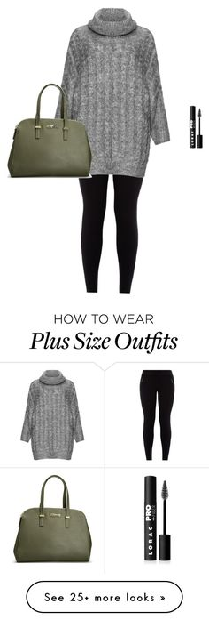 """""""Plus size glamour"""" by kamilayussuf on Polyvore featuring Zizzi, LORAC and Avenue"""