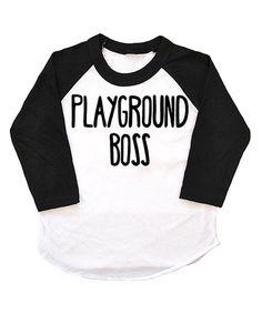 Look what I found on #zulily! Black 'Playground Boss' Raglan Tee - Infant, Toddler & Kids #zulilyfinds