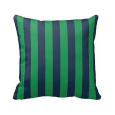Vertical White Pinstripes On Kelly Green Back Throw