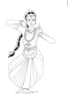 29 Ideas Dancing Drawings Watercolors For 2019 Doodle Art Drawing, Girl Drawing Sketches, Girly Drawings, Cool Art Drawings, Pencil Art Drawings, Disney Drawings, Dance Paintings, Indian Art Paintings, Dance Coloring Pages