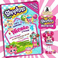 Shopkins Invitation - Shopkins Party Invitation - Shopkins Birthday Party - Shopkins Birthday Invitation - Shopkins Printable Invitation de LythiumArt en Etsy