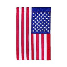 Outdoor Wall Art: Carson Traditional American Flag Garden Flag:... ($12) ❤ liked on Polyvore featuring home, outdoors, outdoor decor, multicolored, garden flags, outside garden decor, american garden flag and outdoor garden decor