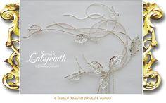Silver fantasy wedding head-dress inspired by Sarah in Labyrinth Ball created by Chantal Mallett.