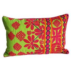I pinned this Rabari Throw Pillow in Lime Green from the Modelli Creations event at Joss and Main!
