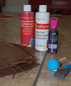 how to make a burlap football door hanger | materials burlap i used pre colored burlap for the footballs and ...