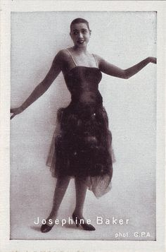 josephine baker, rare photo from the very beginning of her career, est. late teens!