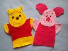 Pooh and Piglet puppets