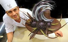 Edible headwear at the World Chocolate Masters