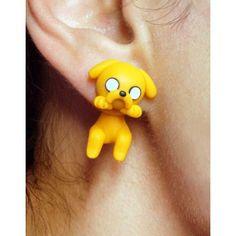 Jake Clinging Ears, cuelga orejas, hora de aventura,adventure time,earrings,pendientes,