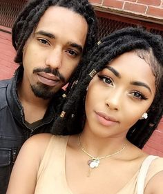 A couple who #Locs together, can't be stopped together. #BlackLove