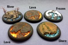 """Round Lip Bases: 40mm """"Lava Flow"""" - Click Image to Close"""