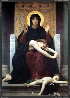 Vierge Consolatrice - The Virgin of Consolation 1875  Bouguereau, William