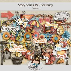 Oscraps.com :: Shop by Category :: All New :: SoMa Design: Bee Busy - Kit - Story Series #9 Bee, Scrapbook, Business, Shop, Design, Bees, Scrapbooks, Design Comics, Store