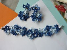 Sea Flowers  Set of earrings and bracelet by MJsflowerfield, $19.80