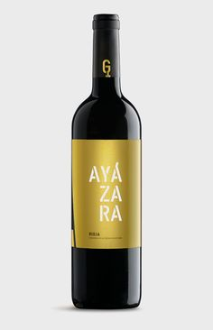 Diseño de etiqueta de vino Ayázara.