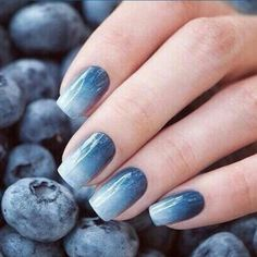 Blueberries nail art