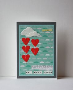 Get Well Soon Handmade Card on Etsy, $6.50