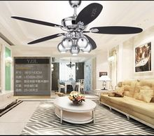 Retro ceiling chandelier fan lights Fan restaurant continental fashion household fan LED ceiling chandelier with remote control(China (Mainland))