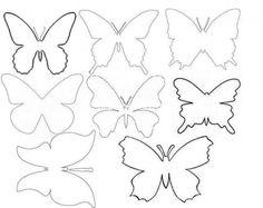 Шаблоны и контуры бабочек на стену для вырезания из бумаги:  скачать и…