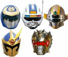 Auxillary Rangers Helmets - MMPR onwards