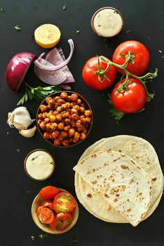 30-minute HEALTHY Chickpea Shawarma Wraps with a simple Garlic Dill Sauce! An easy, weeknight #vegan #plantbased meal! #healthy #recipe #mediterranean