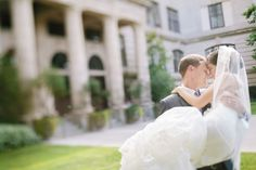 Queen Anne High School makes a lovely backdrop for your wedding photos | Clane Gessel Photography | #weddings #photography #brideandgroom