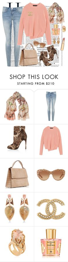 """V78"" by saltless ❤ liked on Polyvore featuring Etro, Current/Elliott, Schutz, Proenza Schouler, Hunting Season, Dolce&Gabbana, Nak Armstrong, Chanel, Completedworks and Acqua di Parma"