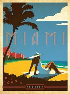 Old style Miami Beach. Been there shortly after a Hurricane had passed trough.Drove down to Key West and saw boat after boat (some very big fishing boats) sitting in the middle of big fields half a mile from shore.
