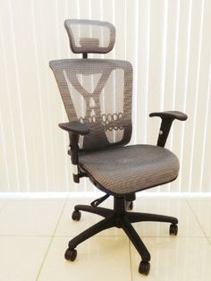 Oajen high back mesh office chair with headrest (blue), free upgrade to 2-3/8″ soft wheel casters for hardwood floor. Compare to Alera, Comfort Products, Lorell« AZofficechairs.com