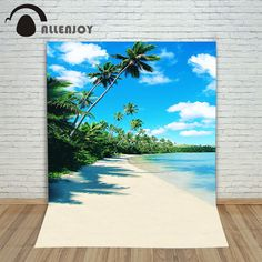 Allenjoy photographic background Beach sand sea woods backdrops baby boy digital customize 8x8