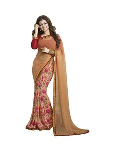 """Latest Designer Store Orange Georgette Designer Saree With Unstitched Bloues Piece #deal #printedsarees  SEASON SALE ADDITIONAL UP TO 20% OFF. USE CODE: """"SALE20"""". SHOP NOW ladyindia.com"""