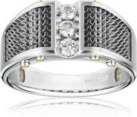Men's White Gold with Black Detail and Polished Finish Diamond Ring cttw, H-I Color, Clarity) * Engagement Rings And Wedding Bands Mens Emerald Rings, Mens Gold Rings, Rings For Men, Men's Jewelry Rings, Jewlery, Rings Of Saturn, Size 10 Rings, Princess Cut Diamonds, Yellow Gold Rings