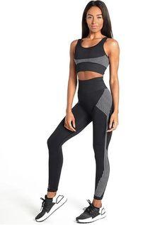 Seamless Vest Bra & Legging Fitness Combo (A) Yoga Wear, Gym Wear, Gym Accessories, Gym Shirts, Seamless Leggings, Workout Wear, Workout Outfits, Workout Leggings, Sports Leggings