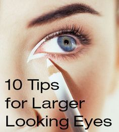 ways to make your eyes look bigger with and without makeup.How to Make Eyes Look Bigger with Makeup, Beauty Hacks.How to Make Your Eyes Look Bigger (With Makeup) Eye Makeup Tips, Skin Makeup, Beauty Makeup, Makeup Tricks, Face Beauty, Makeup Art, Eye Liner Tricks, Makeup Tutorials, Big Eye Makeup