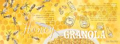 Honey Granola illustrated recipe Ohn Mar Win