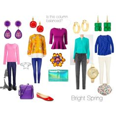 """Balancing Bright Spring"" by christinems on Polyvore and at http://12blueprints.com/spring-and-autumn-natural"