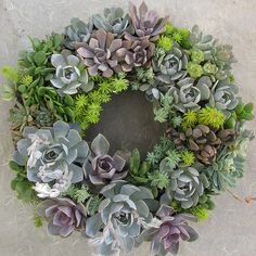 Succulent Wreath by Linda Estrin Garden Design - Excellent.  I love the color.