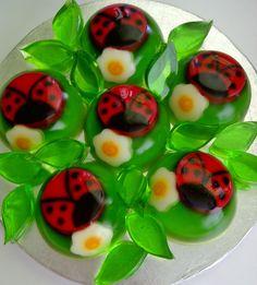 Ladybugs gelatin!