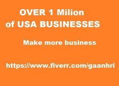 1 million of business contacts. 1 Million of USA Business leads. Cheapest on the market!