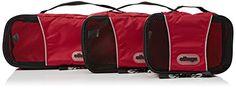 eBags Packing Cubes: 3-teiliges, rotes Packwürfel-Set Slim #backpack #travel #rucksackreisen