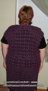 Plus-Size Long Vest/Cover-up--short for grandma