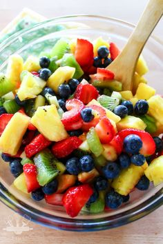 Honey Lime Fruit Salad-6