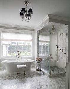 Master Bathroom Shower, Spa Like Bathroom, Bathroom Renos, Dream Bathrooms, Beautiful Bathrooms, Bathroom Renovations, Bedroom With Bathtub, Master Tub, Bathroom Stand